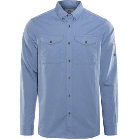 Fjällräven Övik Lite Miehet Pitkähihainen paita , sininen